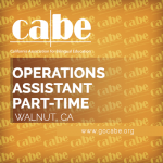 <b>CABE OPERATIONS ASSISTANT (PART-TIME)</b>