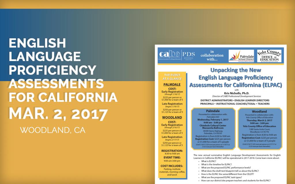 English Language Proficiencyassessments For California
