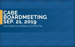 <b>BOARD MEETING SEPTEMBER 2019</b> @ Walnut | California | United States