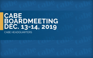 <b>BOARD MEETING DECEMBER 2019</b> @ CABE Headquarters | Walnut | California | United States