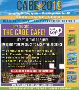 October 25 Exhibitor CABE Cafe