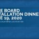 Ad announcing Board of Director's Installation Dinner - June 2020