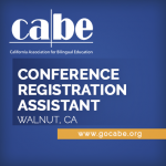 <b>CABE CONFERENCE REGISTRATION ASSISTANT</b>