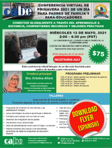 Image of flyer in Spanish - click to download