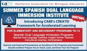 <b>SUMMER SPANISH DUAL LANGUAGE IMMERSION INSTITUTE</b> @ Via Zoom